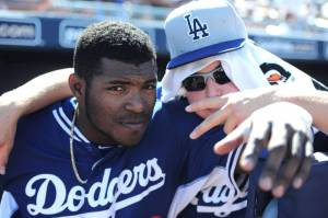 Hopefully, 2/3rds of the Dodger outfield for years to come. (Source: Joe Camporeale-USA TODAY Sports)